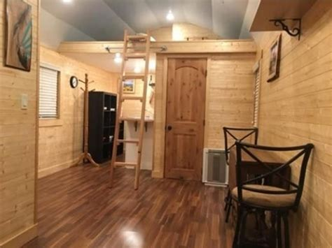 interior view   lofted deluxe cabin shed tiny