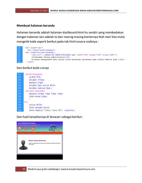 modul membuat web dengan html modul dan ebook belajar membuat website untuk pemula
