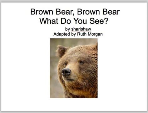 printable version of brown bear brown bear 1000 images about fairy tales nursery rhymes and brown