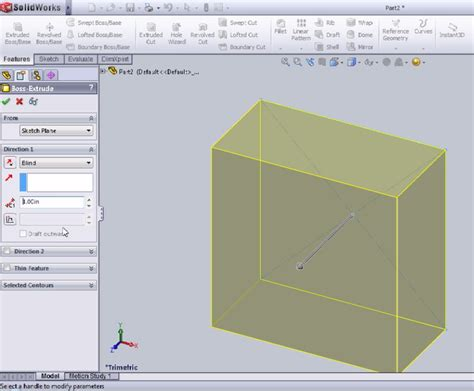 solidworks tutorial extrude extruded cut feature in solidworks tutorial solidworks