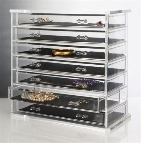 Drawer Jewelry Storage by Plastic Storage Organizers Deluxe 7 Drawer Acrylic
