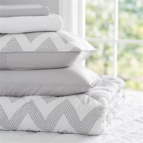 Light Gray Bedding by Zig Zag Stripe Deluxe Comforter Value Set Light Gray Pbteen