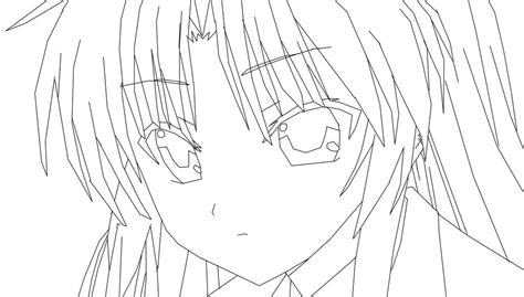 angel beats coloring pages sketch coloring page