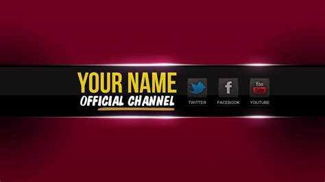 top 5 youtube channel banner template photoshop hd free