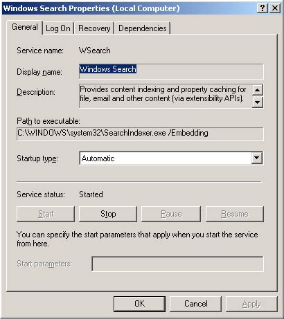 Outlook Email Search Not Working Windows Xp Outlook 2007 Instant Search Not Working User