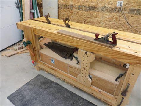 split top roubo bench syp split top roubo workbench by grfrazee lumberjocks com woodworking community