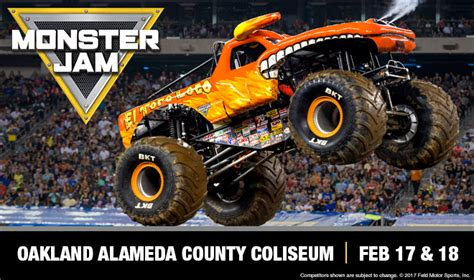 monster truck jam oakland monster jam oracle arena and oakland alameda county coliseum