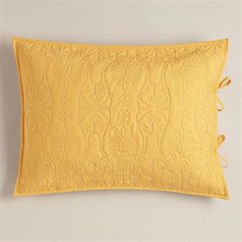yellow and frost gray simone pillow shams set of 2