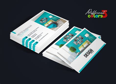 interior design visiting card matter interior design business card psd bundle thumbnail