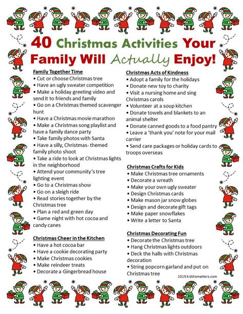 20 best ideas about christmas activities on pinterest
