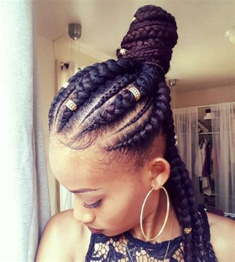 natural hair box braids 5 box braids bun for beautiful black women hairstyles