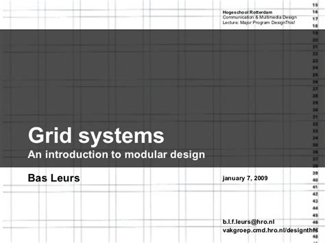 design grid powerpoint grid systems