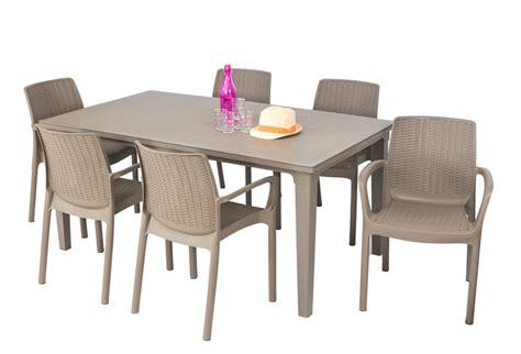 Table De Jardin Alu Et Verre Trempe