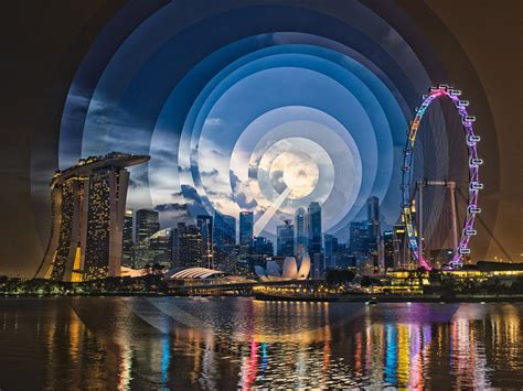 time paintings singapore skylines  landmarks fqwimages