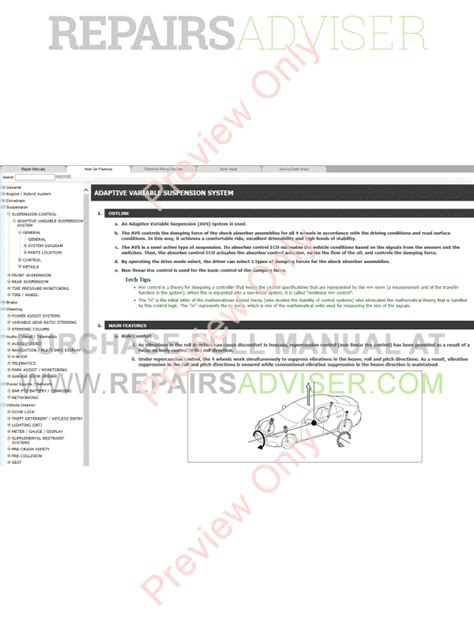 service manual download car manuals pdf free 2007 lexus sc security system download 2007