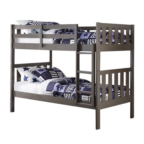 how wide is a twin bed donco kids wide mission twin bunk bed reviews wayfair