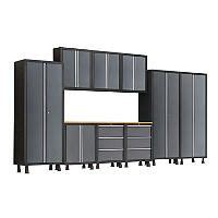 sam s club dp garage cabinets newage products bold 10 piece cabinet set gray