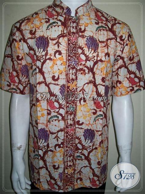 Koko Batic Pendek baju batik pria kerah shanghai batik koko lengan pendek