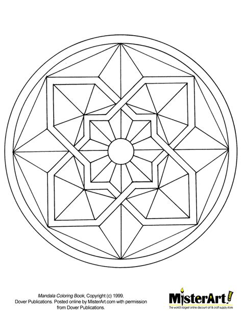 free coloring pages of mosaic circles