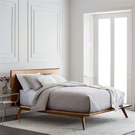 west elm beds mid century platform bed west elm uk