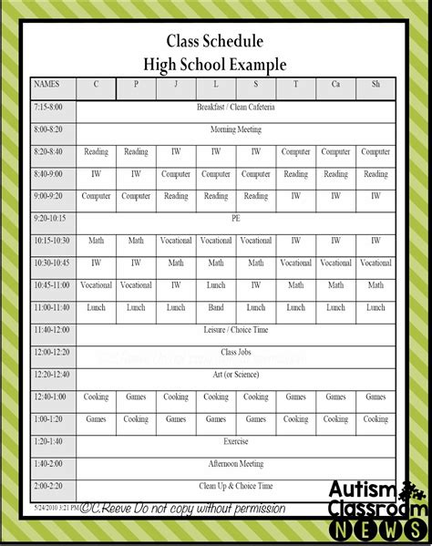 tips for schedule planning undergraduate college schedule templates