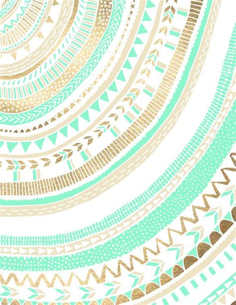 wallpaper tribal gold mint gold tribal canvas print wallpapers patterns