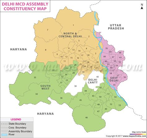 Municipal Corporation of Delhi Assembly Constituency Map