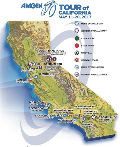 amgen tour of california route map 2017 amgen tour of california live preview