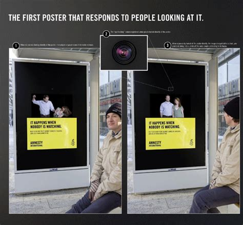 domestic violence billboard dares people not to look away desn210 challenge 1 interactive poster