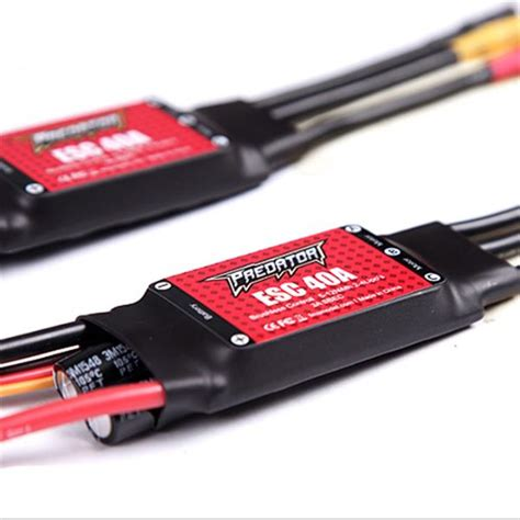 Fms Predator Esc 40a With Sbec 3a fms predator 40a brushless esc with 3a switch bec t tx60