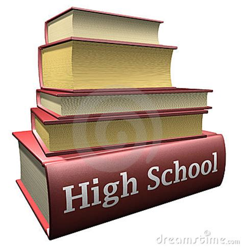 of school picture books education books high school royalty free stock image