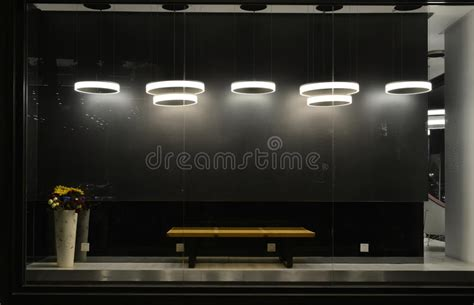 lighting ideas for the display window empty store window with led light bulbs led l used in shop window commercial decoration black