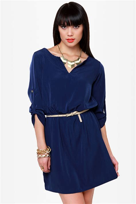 Casual In Navy Blue navy blue dress casual dress 42 00