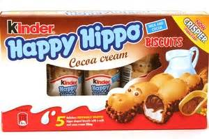 Kinder Happy Hippo Cocoa T5x20 7g kinder happy hippo biscuits cocoa 5 stick 3