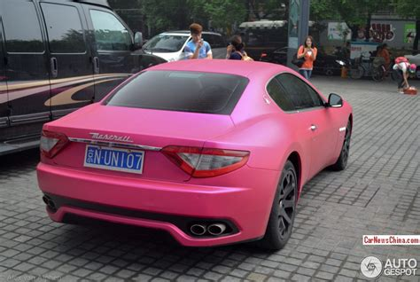 maserati pink maserati granturismo is pink in china carnewschina com