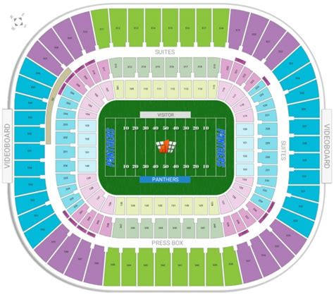bank of america stadium seating chart bank of america stadium nc seating chart autos