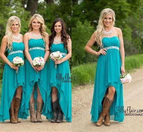 Kh Tutu Green Dress Kh 51 I cheap country bridesmaid dresses 2018 teal turquoise chiffon sweetheart high low peplum