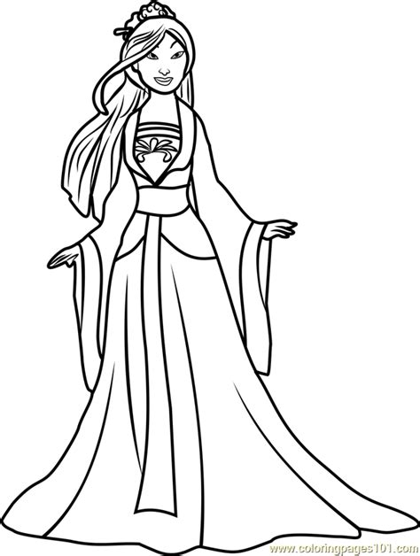 Princess Mulan Coloring Page | princess mulan coloring page free disney princesses