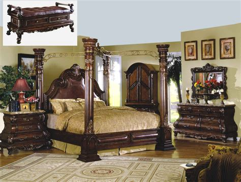 royale poster canopy bedroom furniture with marble accents traditional canopy bed marble bedroom set shop factory