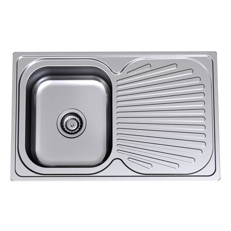 Bunnings Sinks by Sink S S Vital Clark 765mm Sgl End Bwl No Th 1123