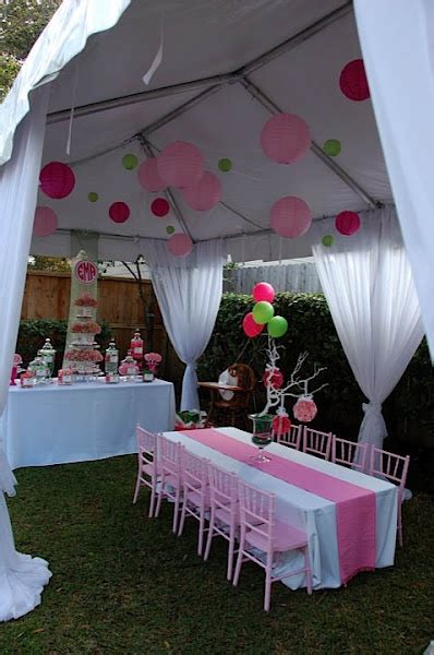 canopy decorating ideas pink green lilly pulitzer themed party nico and lala party time pinterest runners