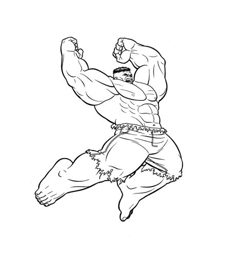 coloring page of a superhero 12 free printable the hulk coloring pages