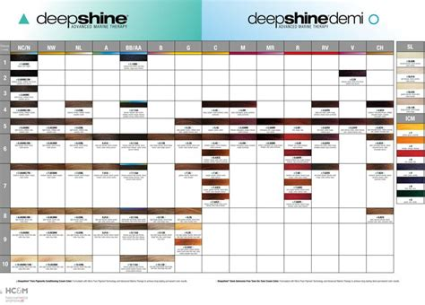 rusk shine color rusk deepshine color chart sept 2014 color charts