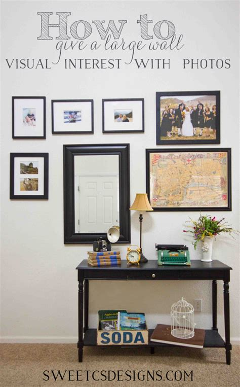 How To Decorate My House Decorating A Large Wall With Photos