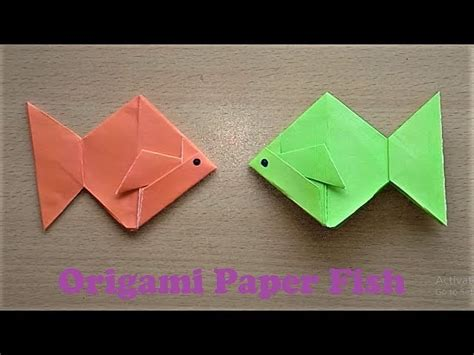 Really Origami - how to make an origami paper fish step by step easy