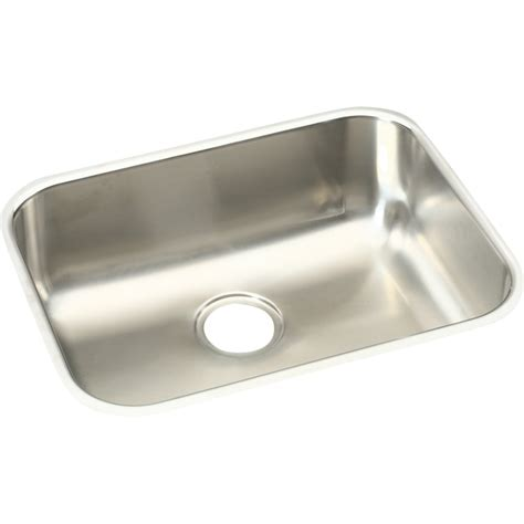 Kitchen Stainless Steel Sinks Shop Elkay Harmony 18 25 In X 23 5 In Soft Highlighted Satin Single Basin Stainless Steel