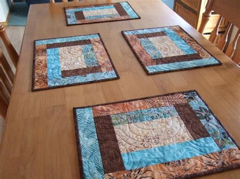 Patchwork Table Mats - best 25 placemat patterns ideas on quilted