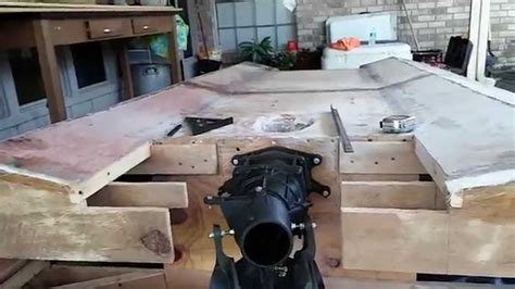 houseboat jet ski r homemade plywood jet boat pt 8 steering and reverse youtube