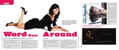 Pages Magazine by Three Pages Article In Magazine And Puffs Lili