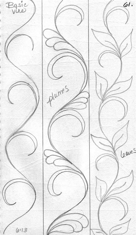 simple vine pattern luann kessi from my sketch book